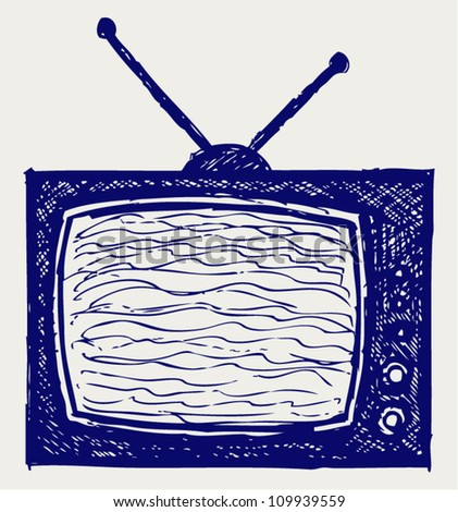 Retro TV set - stock vector