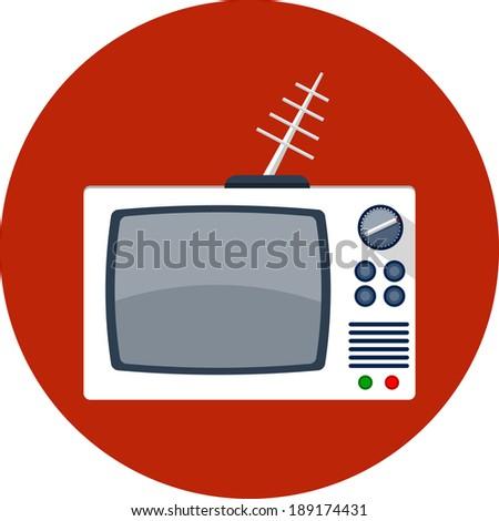 retro tv set - stock vector