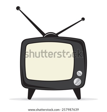 Retro tv vector icon - stock vector