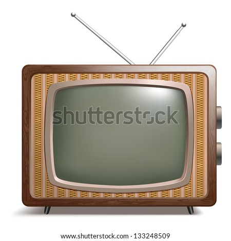 Retro TV vector illustration - stock vector