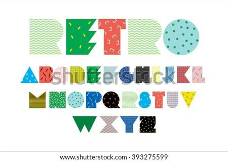 retro typography/font - stock vector