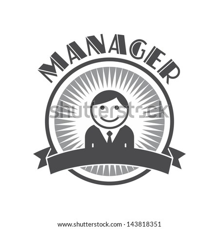 Retro user picture of a manager - stock vector