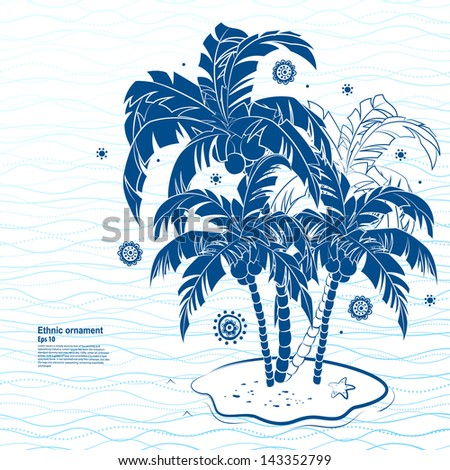 Retro vacation greeting card - stock vector