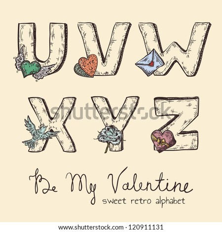 V Alphabet Images With Love Love U Word I Stock Photos, Royalty-Free Images & Vectors ...
