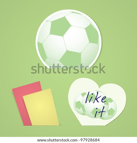 retro valentine and football cards in the pockets of shadows