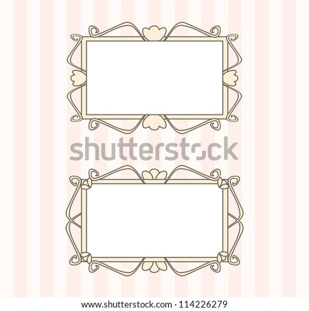 Retro vector art deco frames with empty space to put picture or text - stock vector