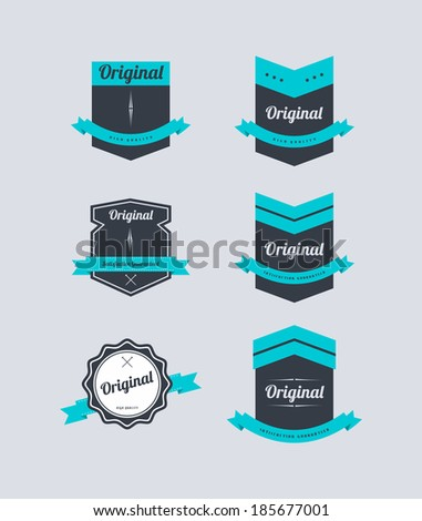 retro vector label