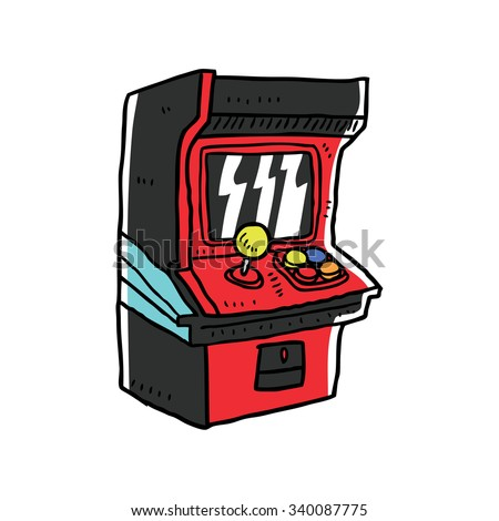 retro video game - stock vector