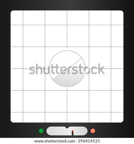 retro viewfinder, free copy space, fictional design, vector - stock vector