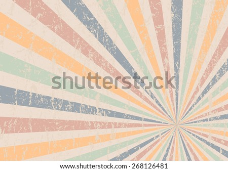 retro vintage background, abstract grunge beams, vector illustration - stock vector
