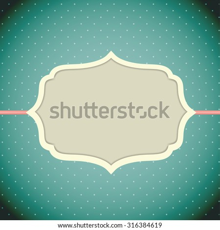 Retro Vintage Background with Frame Template Vector Illustration EPS10 - stock vector