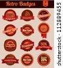 Retro Vintage Badges - stock vector