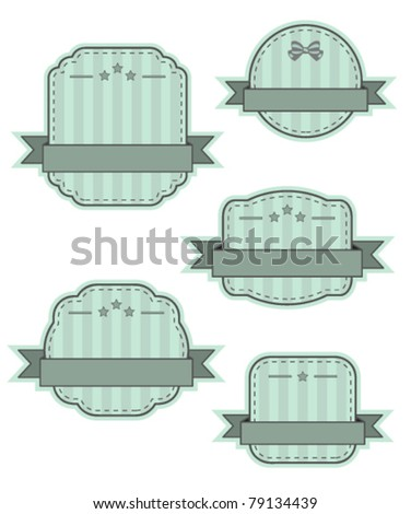 Retro vintage frames - stock vector