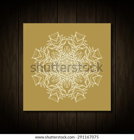 Retro Vintage greeting card. Vector background. Card or invitation. Vintage decorative elements. Hand drawn background. Floral ornament. Islam, arabic, indian, ottoman motifs. - stock vector