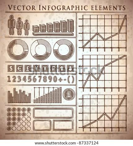retro vintage info-graphic elements - stock vector