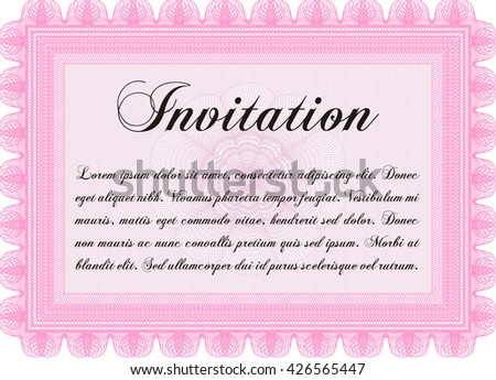 Retro Vintage Invitation Template Stock Vector   Shutterstock