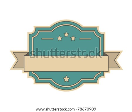 Retro vintage label - stock vector