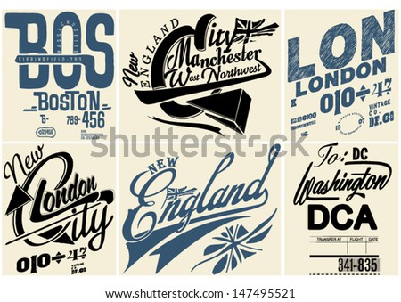 Retro vintage labels for printing  - stock vector