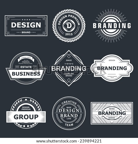 Retro Vintage labels or Logo. Vector design elements business signs branding  badges objects. - stock vector