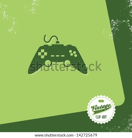 retro vintage page joystick - stock vector