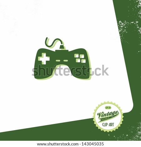 retro vintage page with console - stock vector