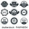 Retro Vintage Premium Quality and Best Choice Label collection with black grungy design. - stock vector