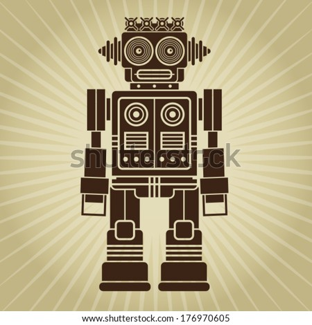 Retro Vintage Robot  - stock vector