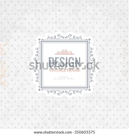 Retro Vintage template Insignia on retro background. Luxury elegant design for cafe, restaurant, boutique, hotel, store, jewelry, badges and  label.  - stock vector