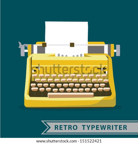 retro vintage Typewriter vector  - stock vector