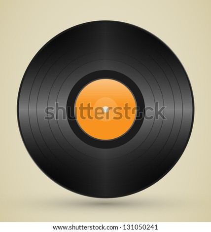 Retro vinyl on brown background - stock vector