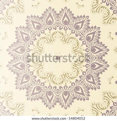 retro wallpaper - stock vector
