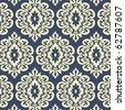 retro wallpaper seamless - stock vector
