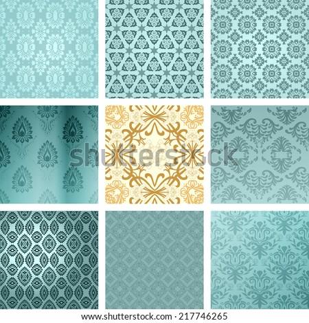 Retro wallpaper. Vector - stock vector