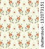 Retro wallpaper with  floral seamless pattern. EPS 10 vector illustration. - stock vector