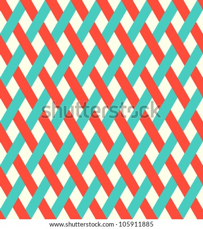 retro wicker pattern (seamless ) - stock vector