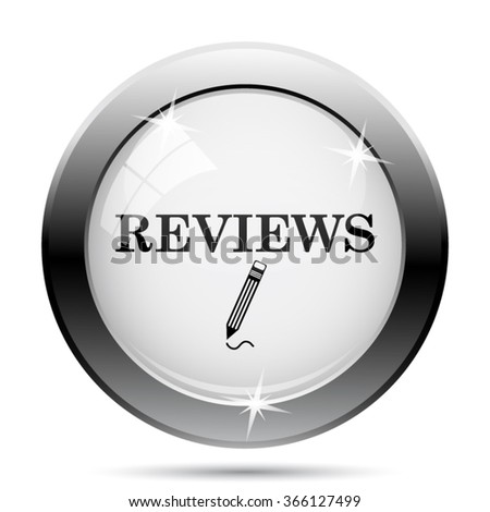 Reviews icon. Internet button on white background. EPS10 vector.