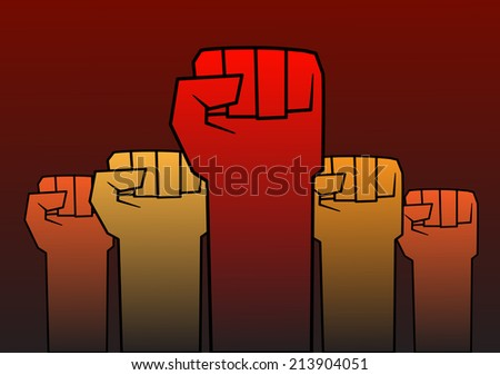 Revolution fist - stock vector
