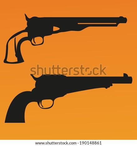 Revolver - stock vector