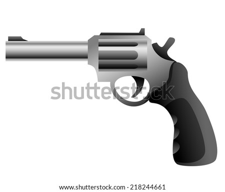 Revolver gun isolated