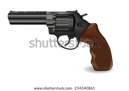 Revolver - vector drawing - stock vector