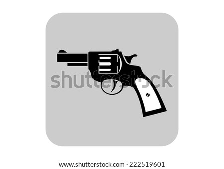 Revolver vector icon  - stock vector