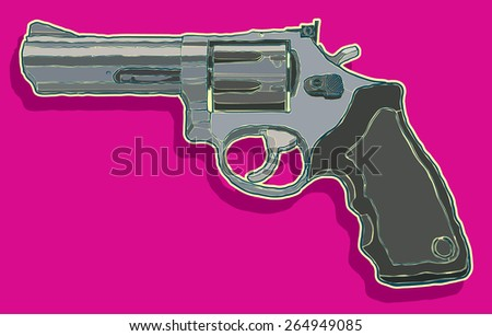 Revolver vector illustration - stock vector
