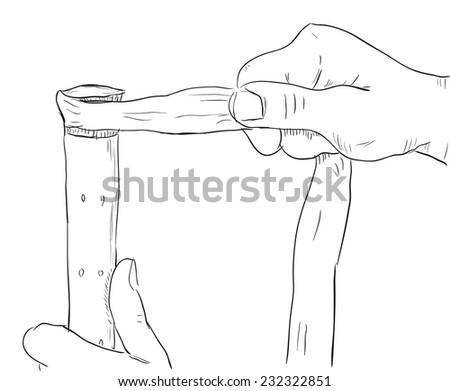 Rewind handle of a tennis racket. Vector illustration. - stock vector