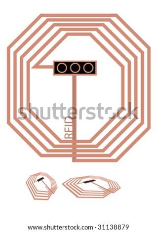 RFID set 2 - stock vector