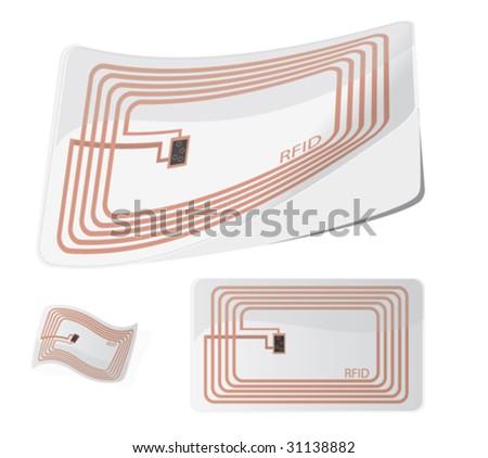 RFID set 3 - stock vector