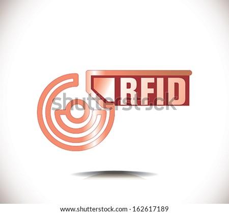 RFID symbol - stock vector