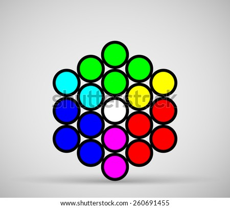 RGB color model made from circles