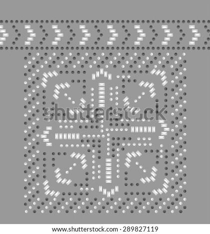 rhinestone design - stock vector