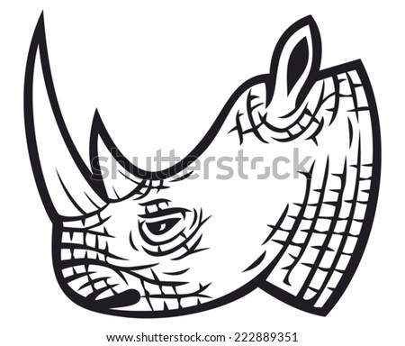 Rhino head stock images royalty free images vectors shutterstock rhino head ccuart Gallery