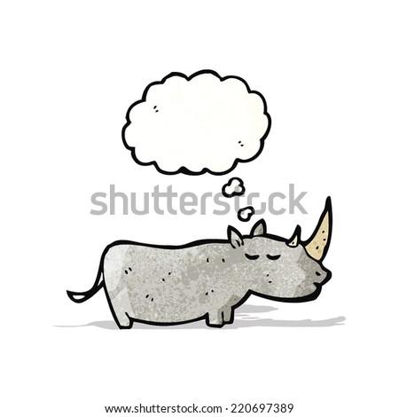 rhinoceros cartoon - stock vector